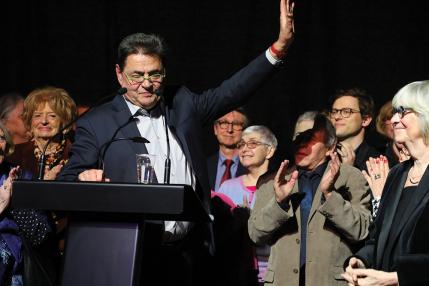 A la fin de ses voeux, Jean-Paul Bret a remercié les Villeurbannaises et les Villeurbannais.